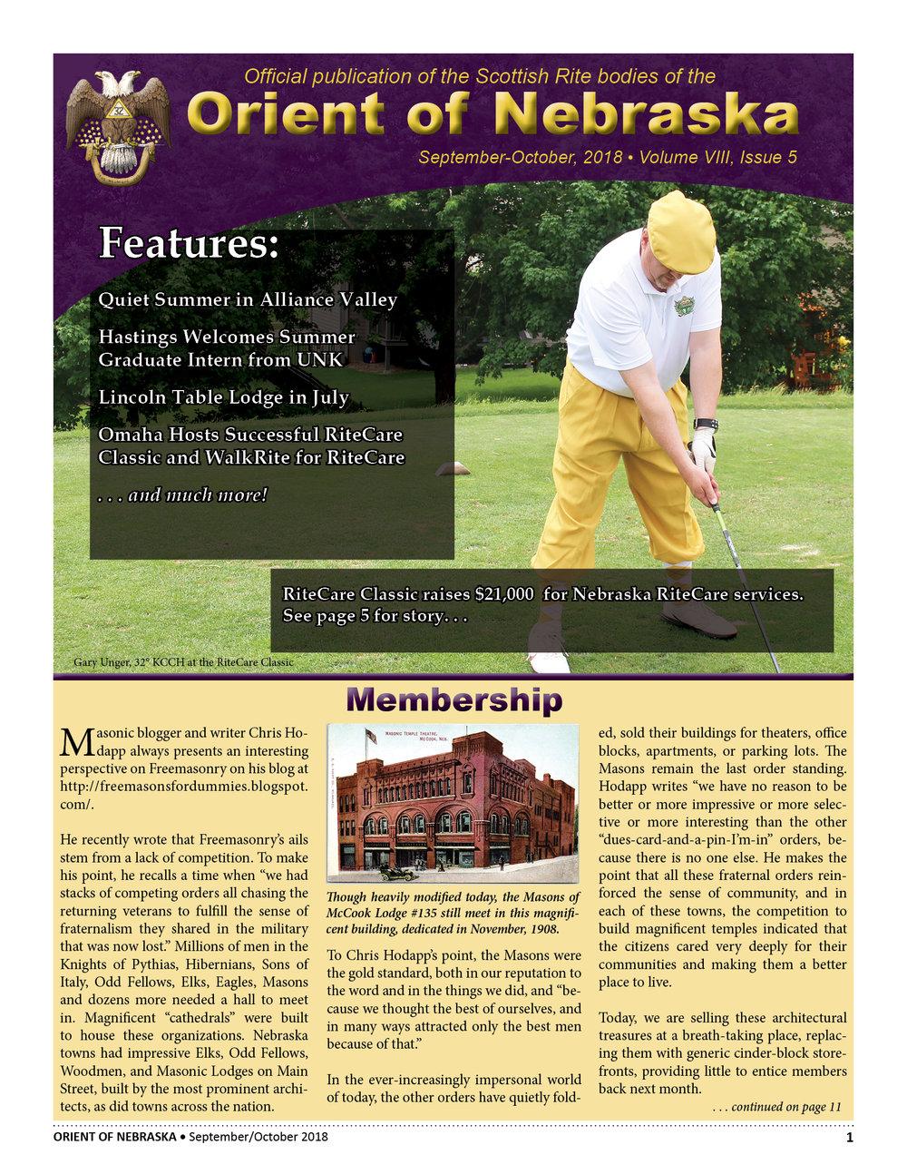September-October, 2018 Volume VIII, Issue 5