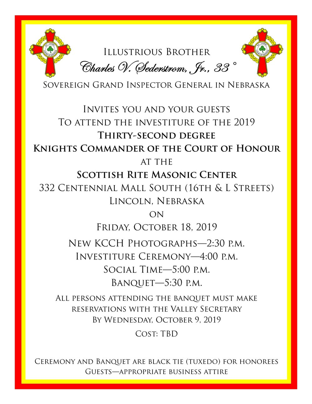 Click above to download a PDF copy of the 2019 KCCH invitation.