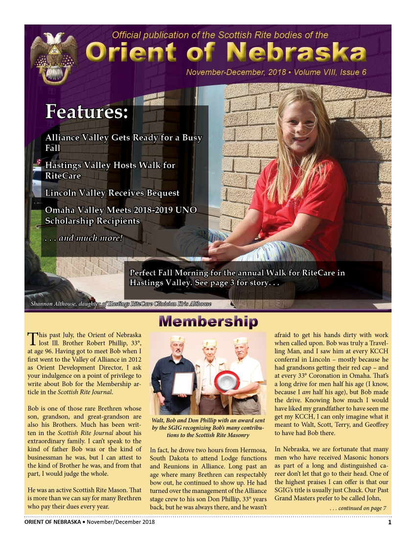 Current Issue  November-December, 2018 Volume VIII, Issue 6