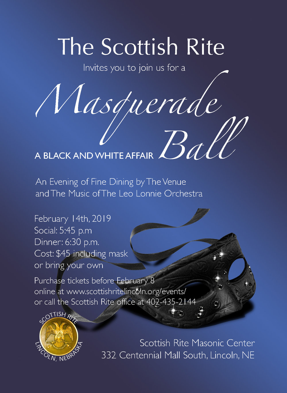 Click above image to download a PDF of the Masquerade Ball flier.