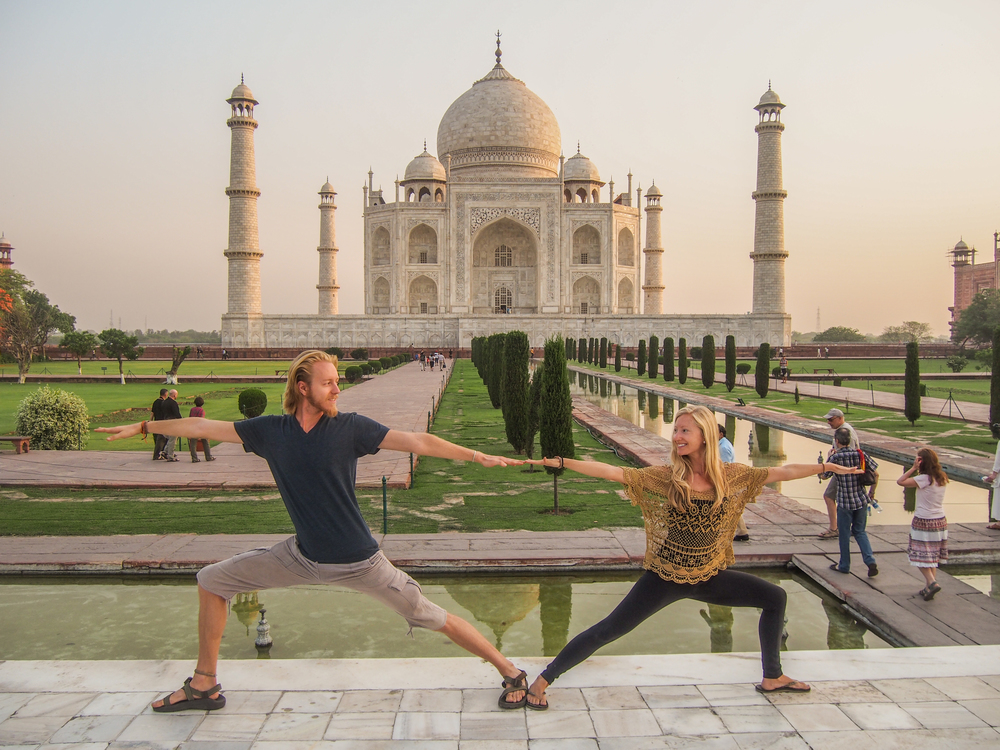 Photo caption: The Yoga Nomads