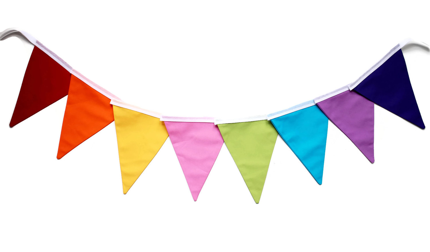 rainbow bunting handmade by monica bunting for all occasions