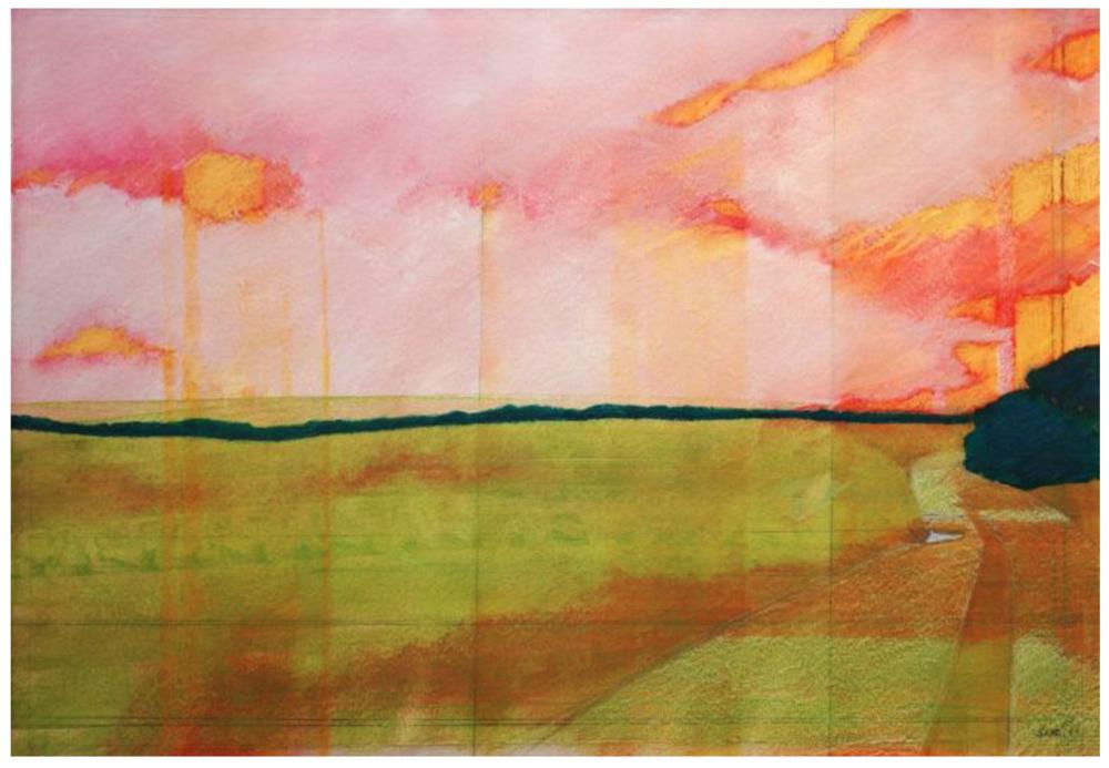 Uchermark-roter Himmel by Skadi Engeln at Saatchi Art