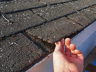 Old Roof Shingles Needing Replacing