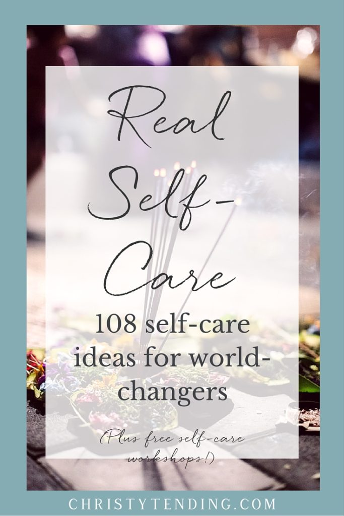 Real Self-Care Article by Christy Tending
