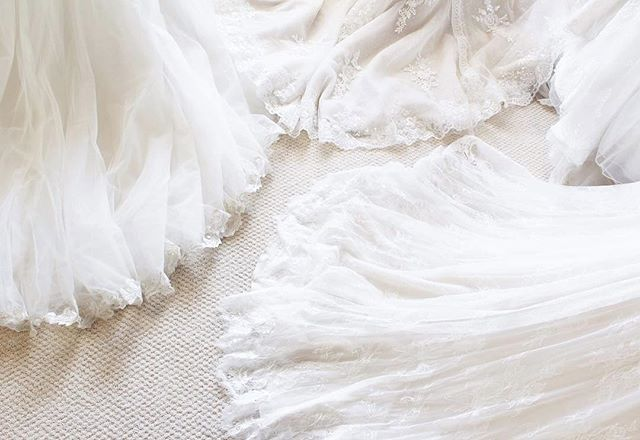 Just a sea of beautiful lace and tulle to sweep us away into the weekend! Happy Friday! #yourperfectsilhouette #silhouettebridal