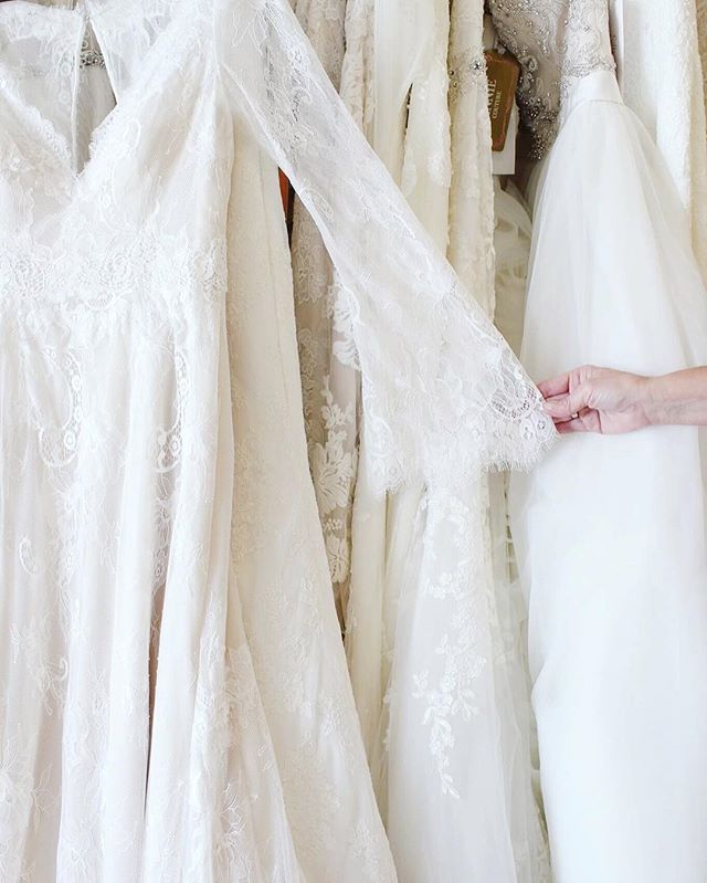We are crushing on these bell sleeves for our vintage, boho, romantic brides! #yourperfectsilhouette #silhouettebridal