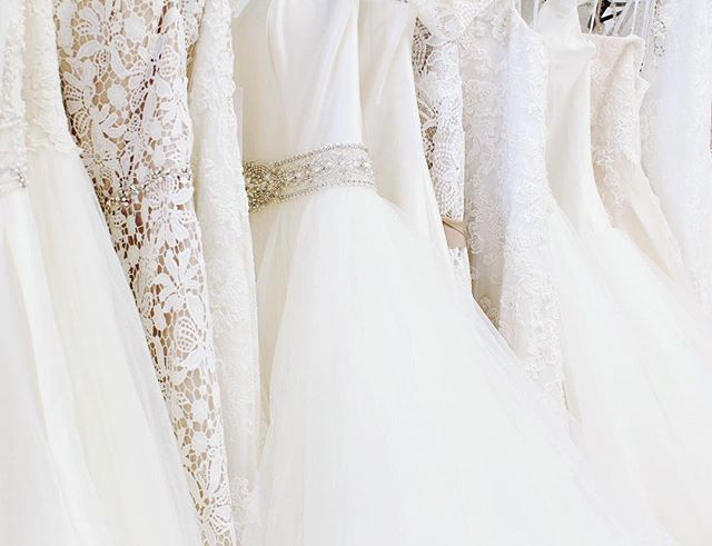 We love each of our gowns individually, but especially love how they look all together! From the ballgown bride to the intricate lace bride, to the vintage bride, we love dressing each bride to fit their  personality and style! Make your appointment online so we can help you find #yourperfectsilhouette! #silhouettebridal #bridetobe2017