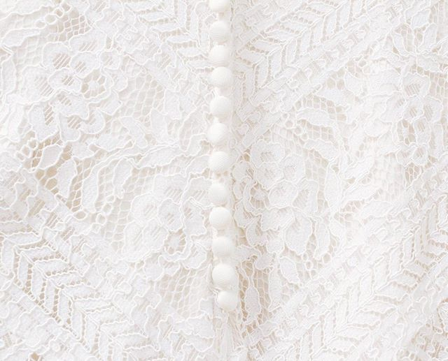 Beautiful lace + pretty buttons = a gorgeous gown! #yourperfectsilhouette #silhouettebridal