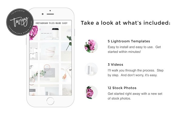 The 10 Best Social Media Templates for Bloggers on Creative Market: create instagram tiles by twigyposts