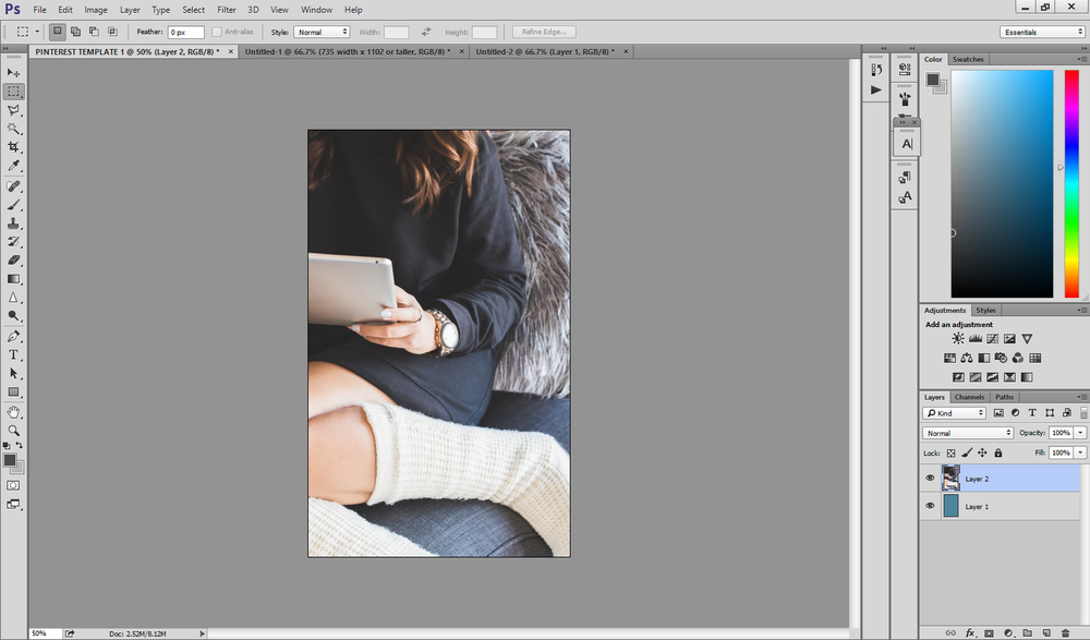 How to Design Pinterest Templates in Photoshop With Haute Chocolate Photos