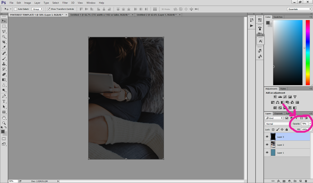 How to Design Pinterest Templates in Photoshop with Haute Chocolate