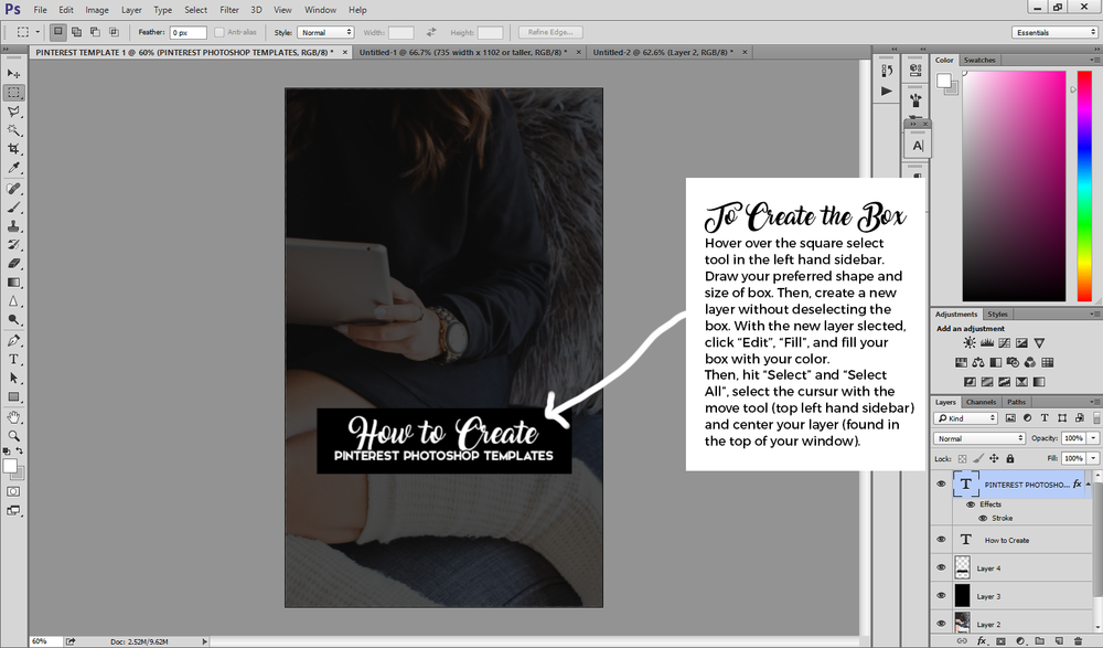 How to Design Pinterest Templates in Photoshop