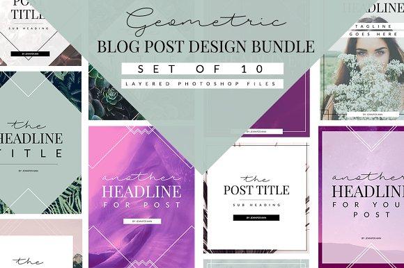 Geometric Blog Templates for $9