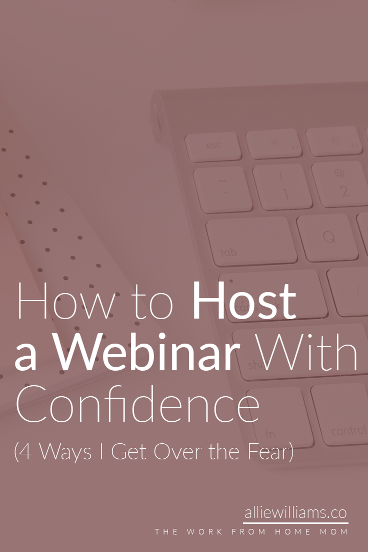Getting in front of the camera doesn't have to be scary. You can host with confidence every single time! Here are 4 tricks I use to host webinars without fear. Pin this image for later and click through to read all my free tips!