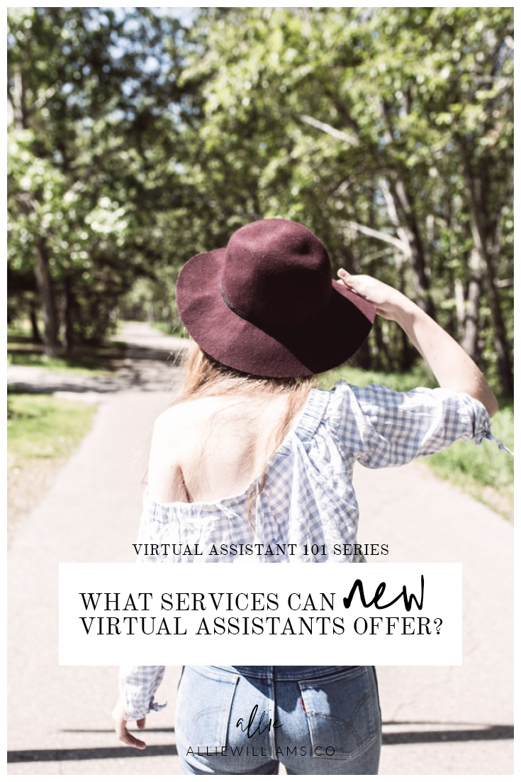VA 101: What Services Can a New Virtual Assistant Offer? Allie Williams Co. http://alliewilliams.co/