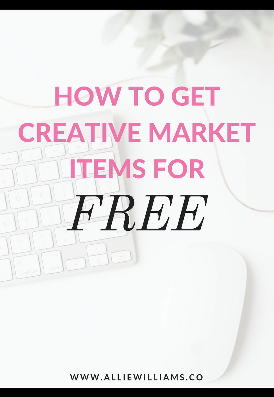 How to get Creative Market products for FREE