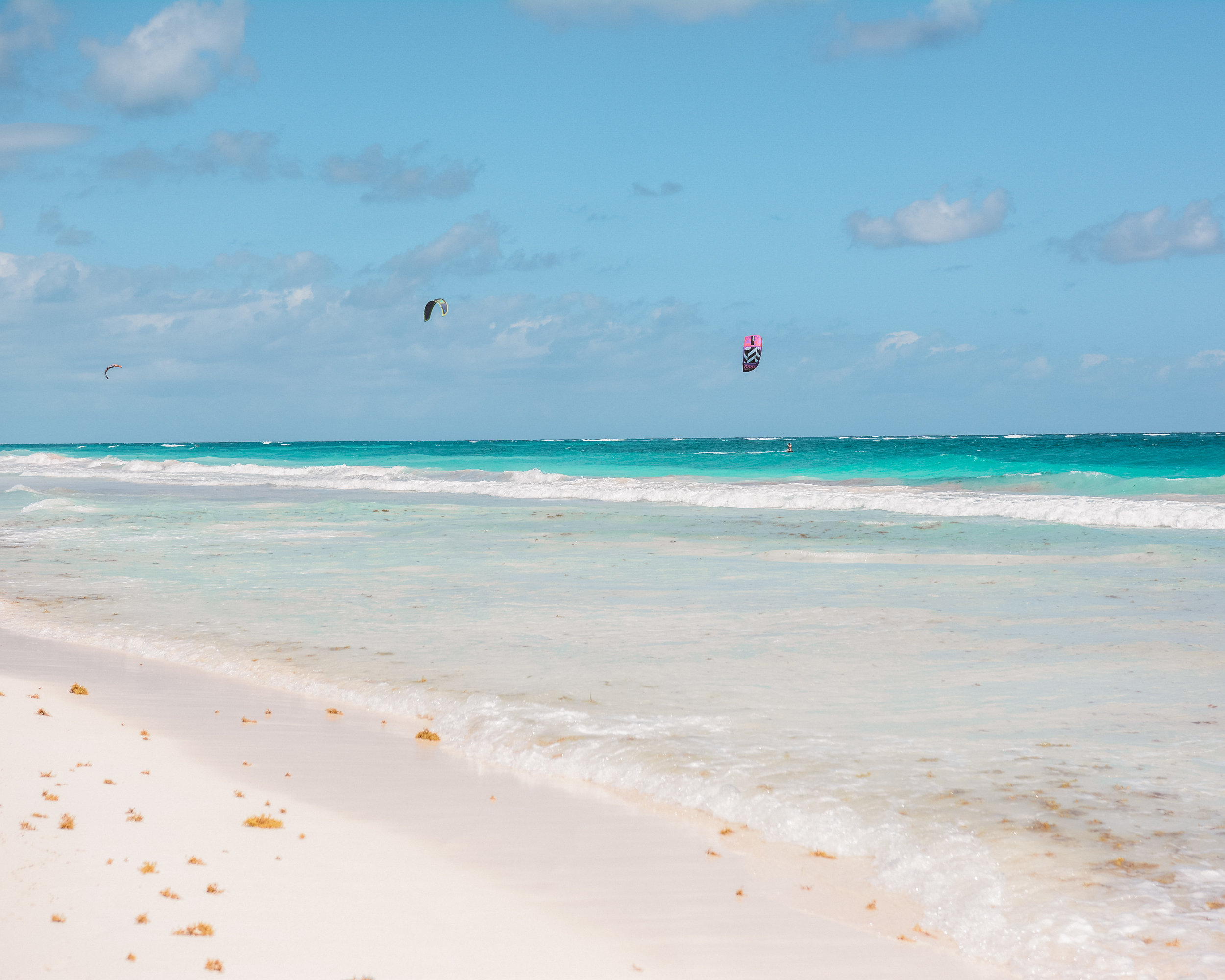 Kiteboarding in Tulum, Mexico