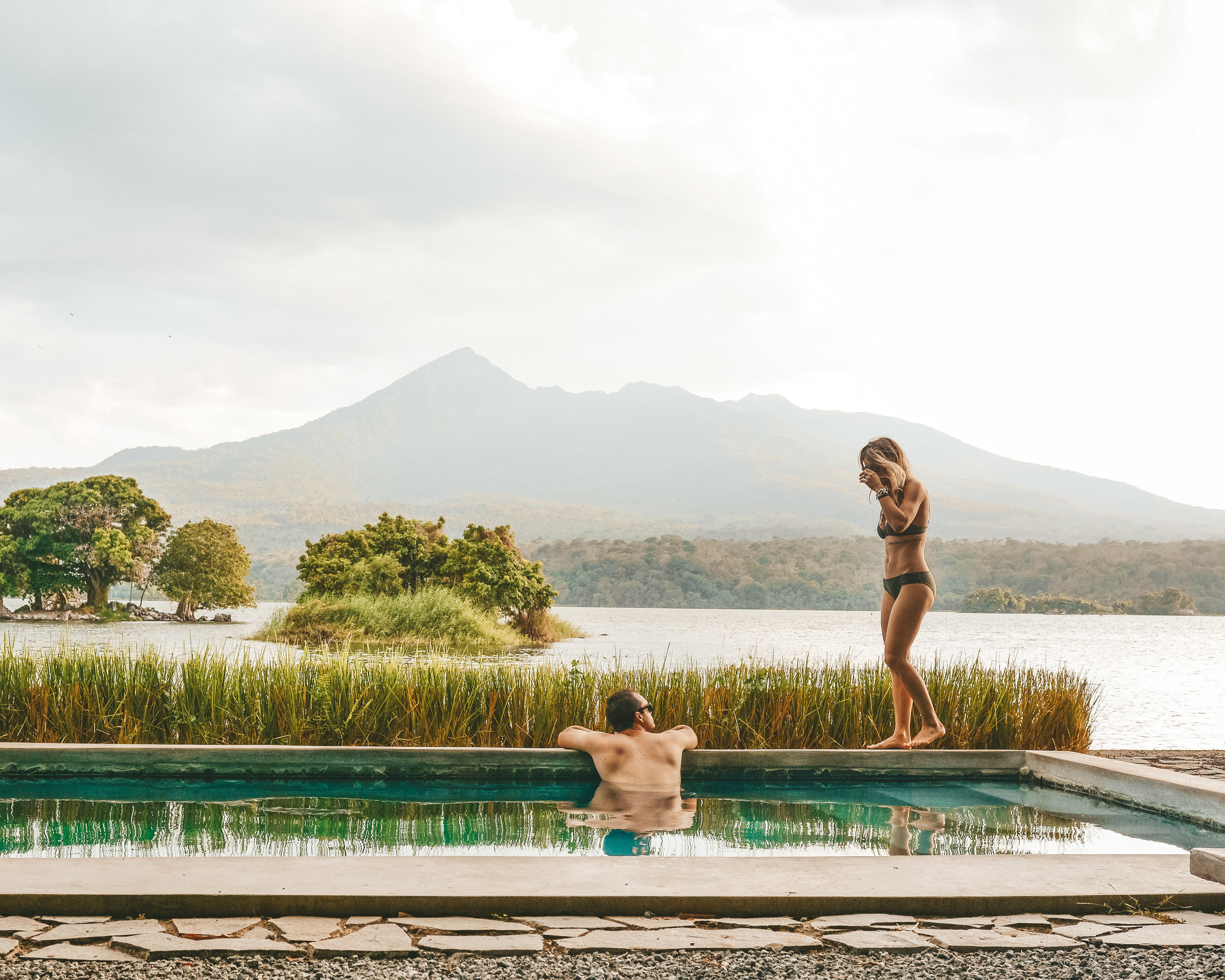 Hanging by the pool at Isleta el Espino