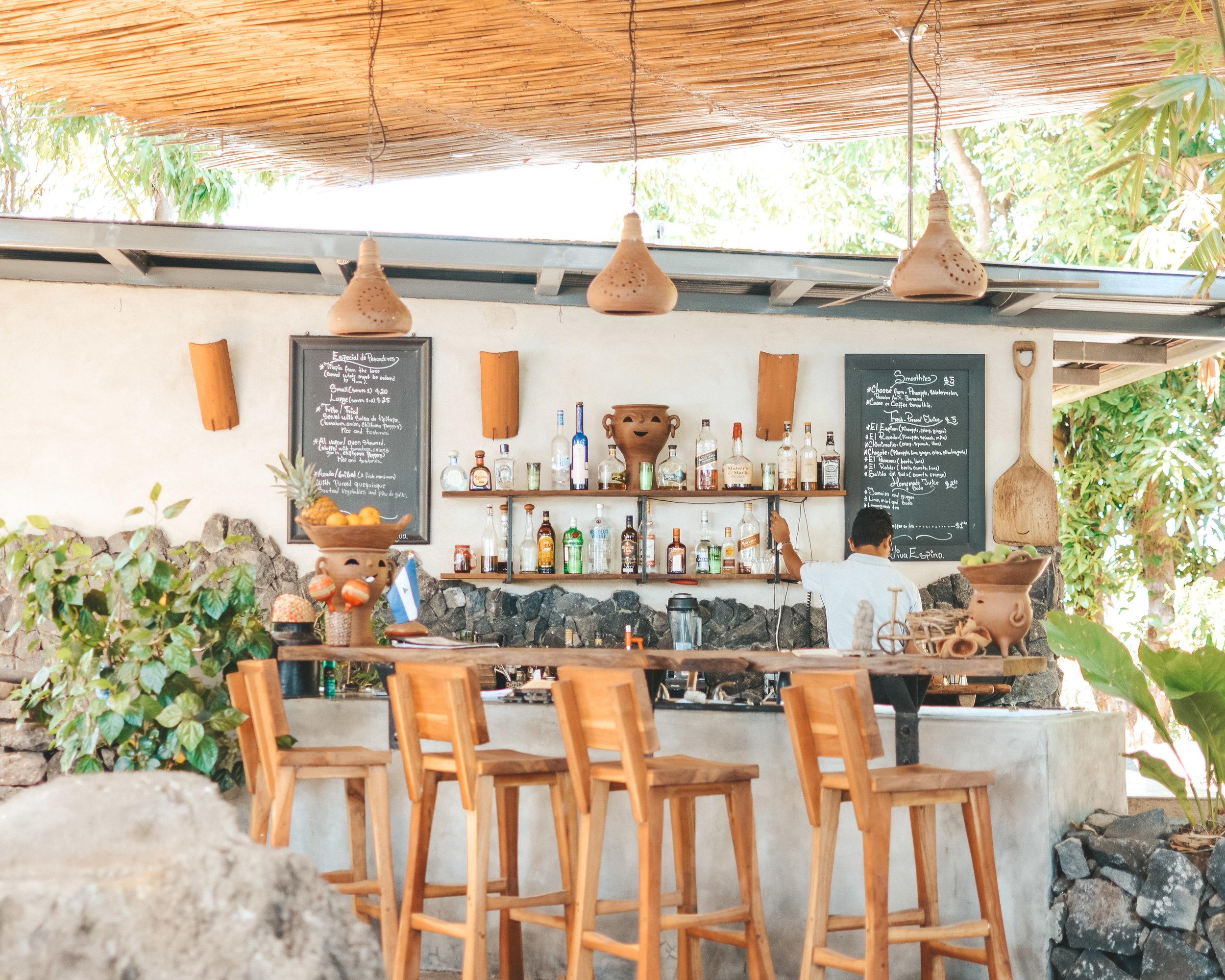 The bar at Isleta el Espino