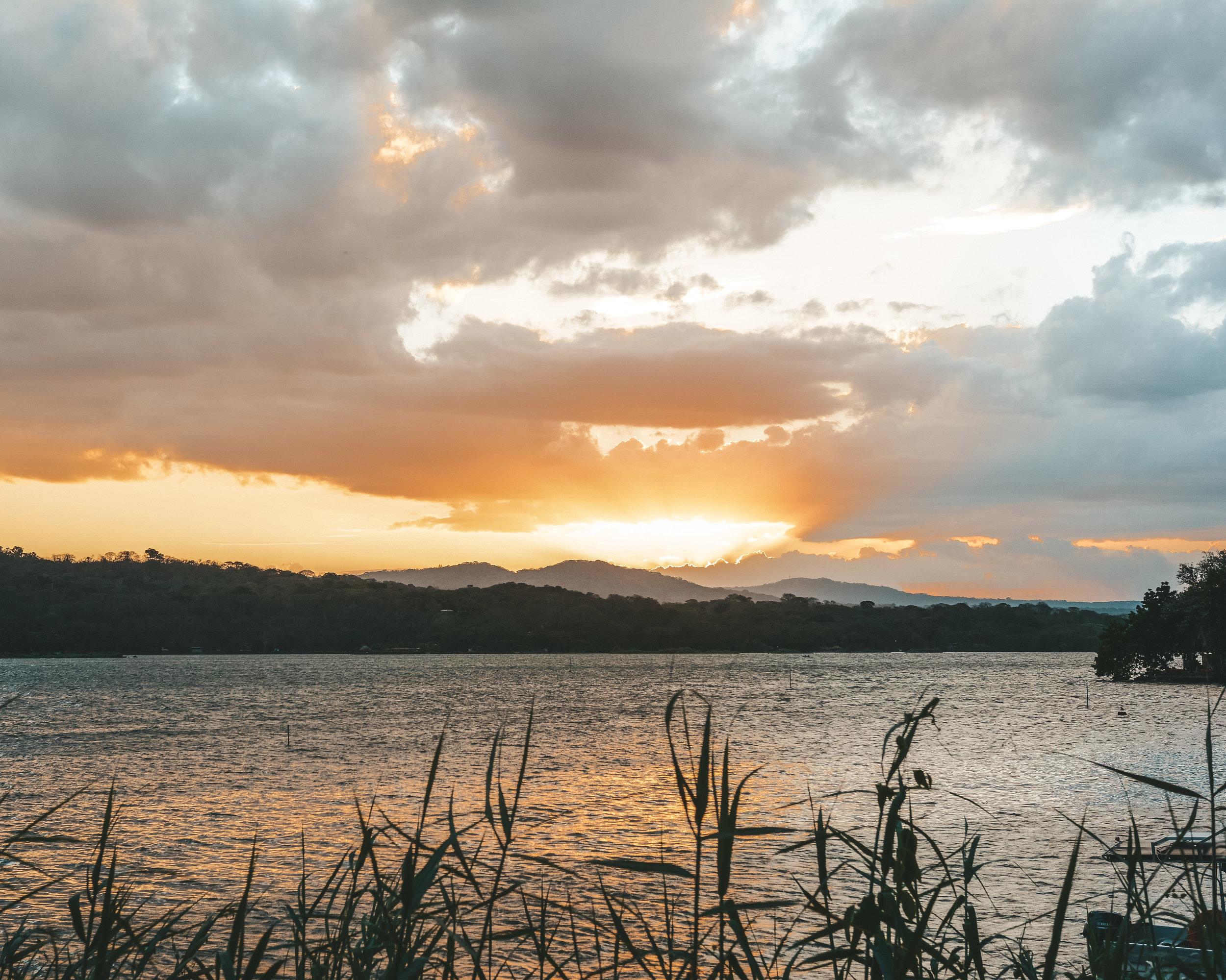 Epic sunsets on Lake Nicaragua
