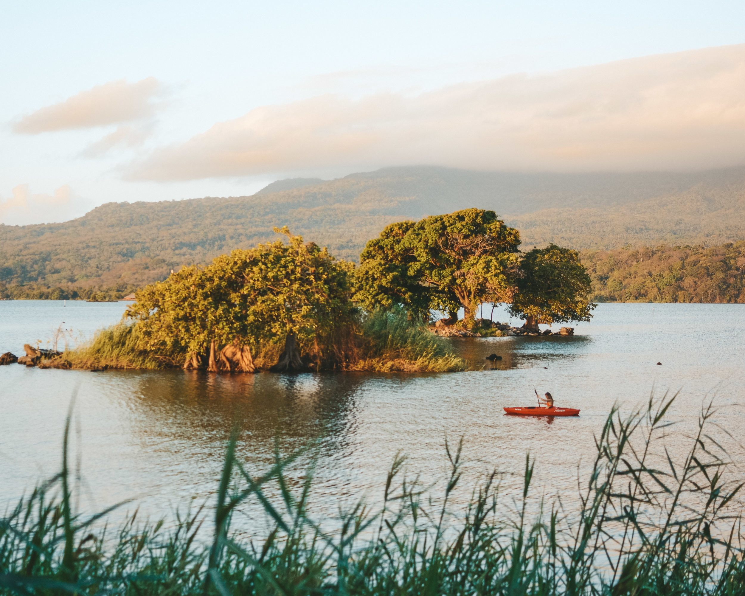Morning kayaks on Lake Nicaragua