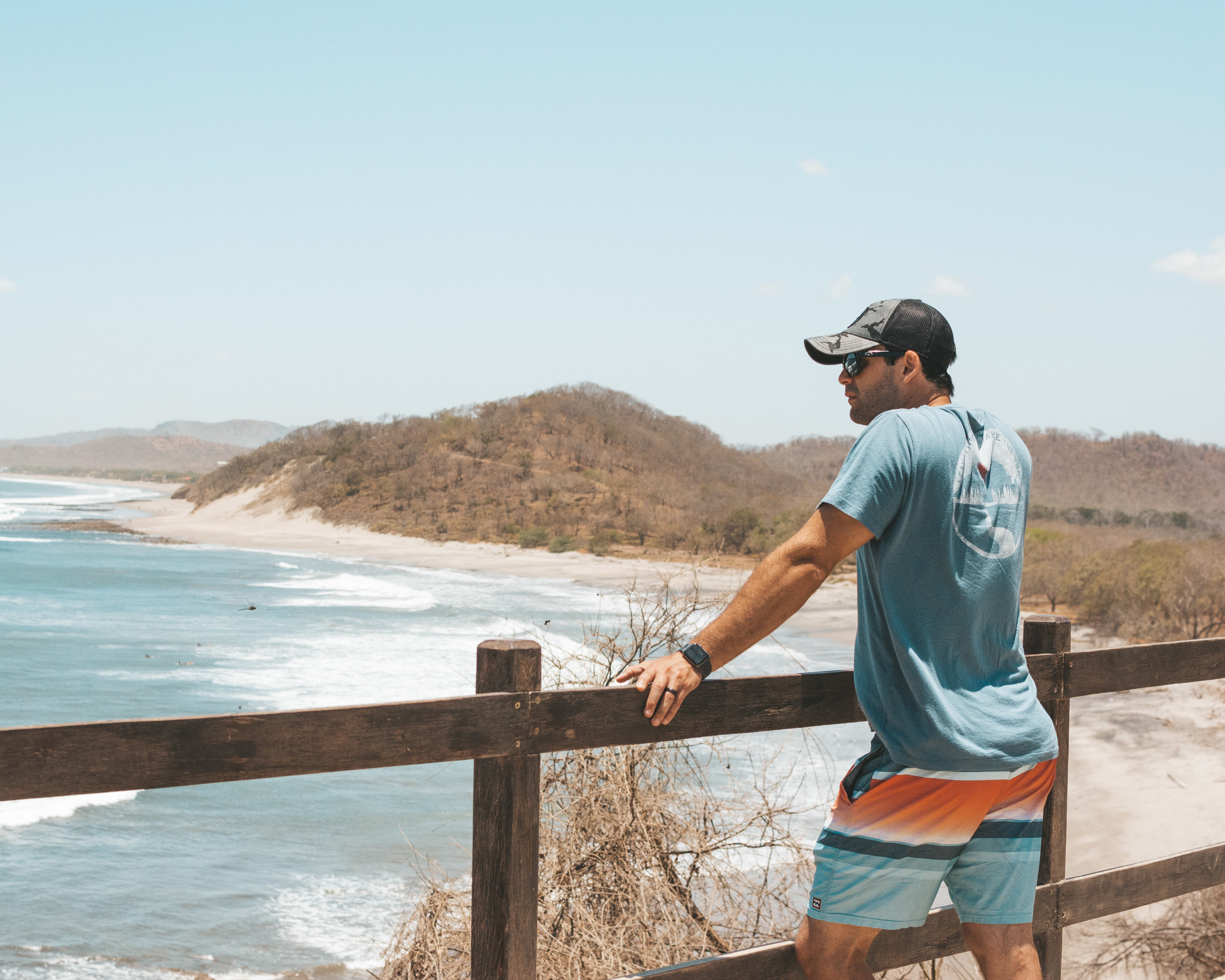 Watching the surfers in Popoyo, Nicaragua