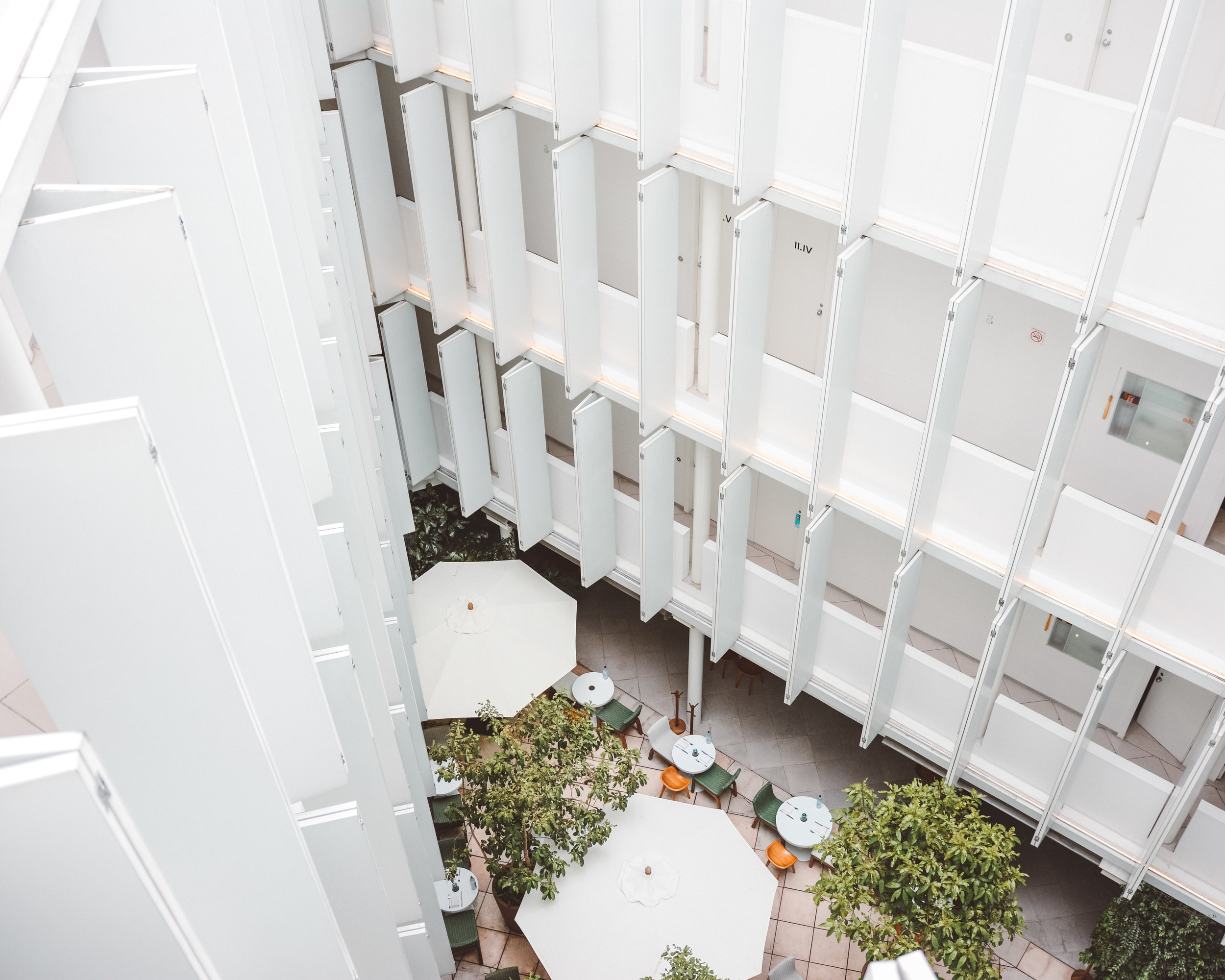 The Beautiful Design Hotel Condesa DF Courtyard, Mexico City