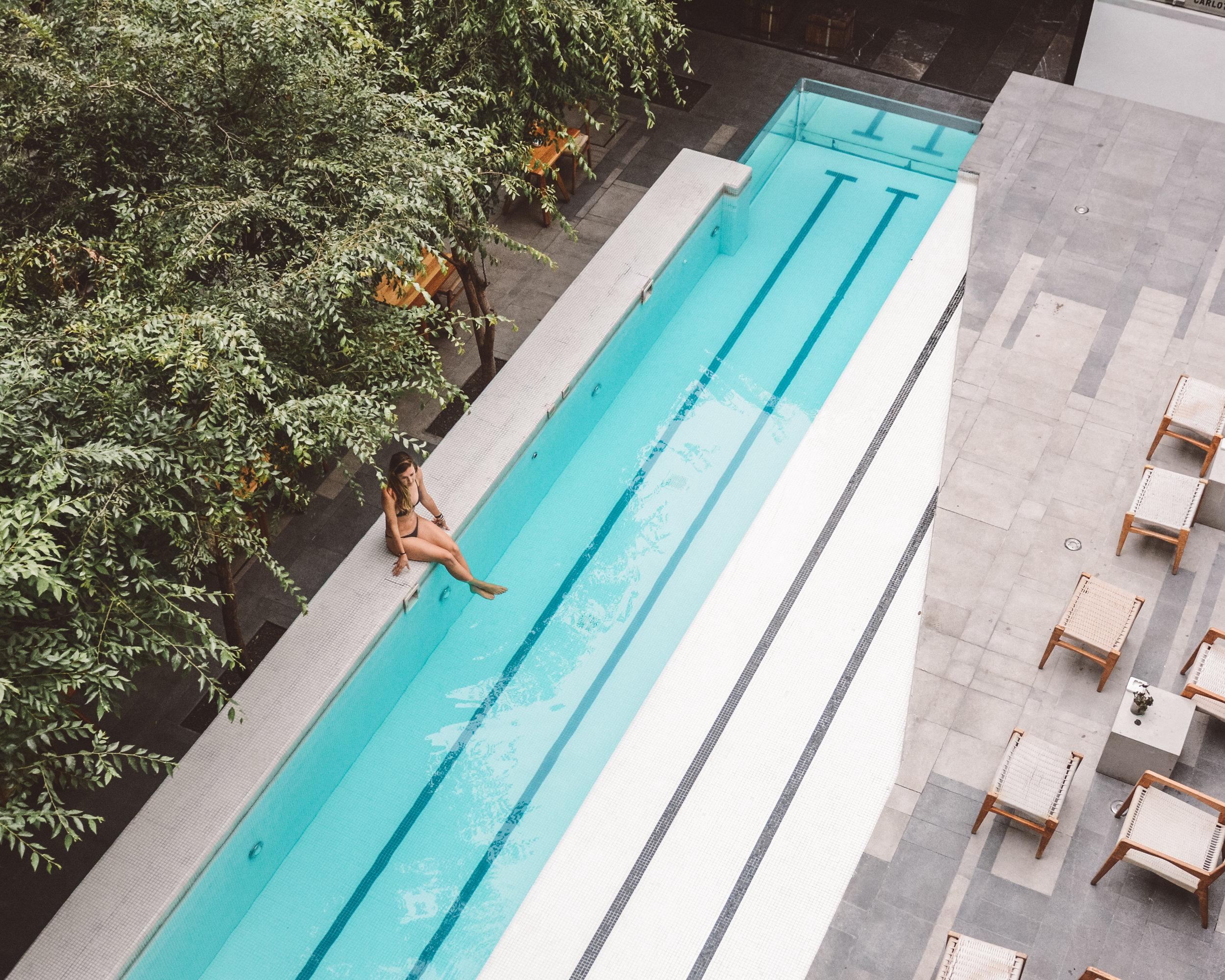 The Pool at Hotel Carlota, Mexico City