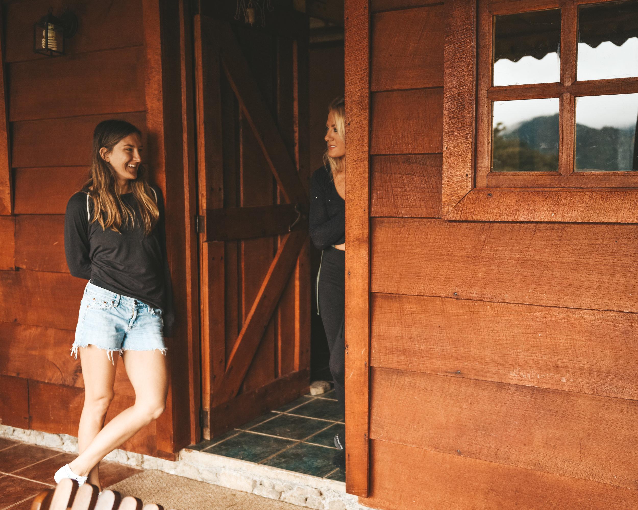 Hanging at Aurora Lodge, Bajos del Toro