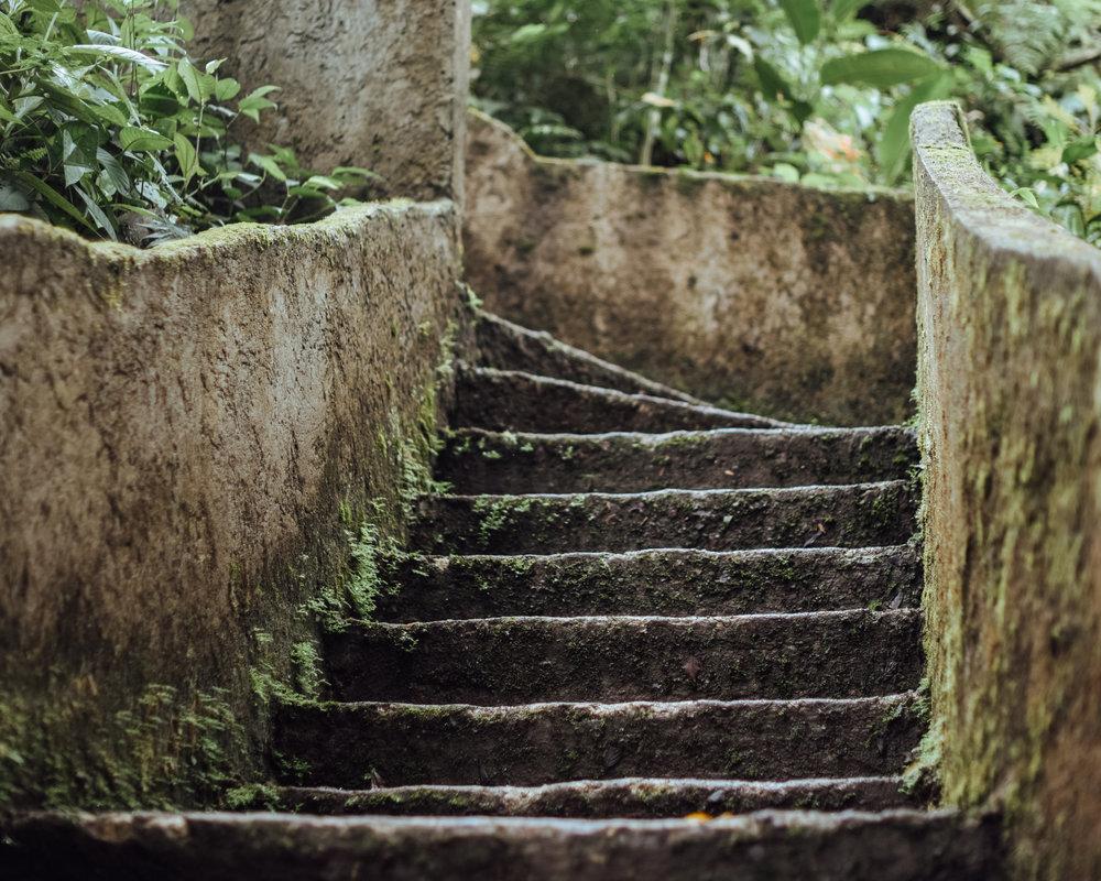 Stairs to Catarata del Toro, Bajos del Toro
