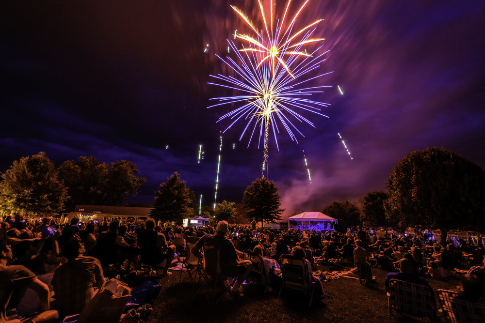 Crozet, VA, Fireworks. Photo credit: M.C. Andrews Photography