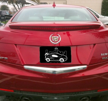 2013+ Cadillac ATS Flush Mount Spoiler (with light)