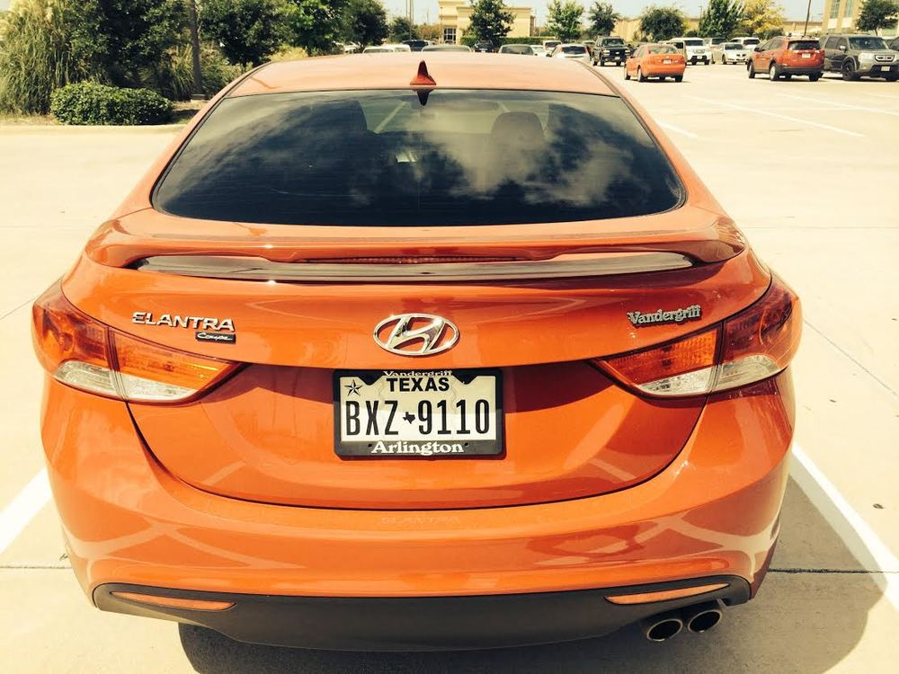 2011-2016 Hyundai Elantra Custom 2-Post Spoiler