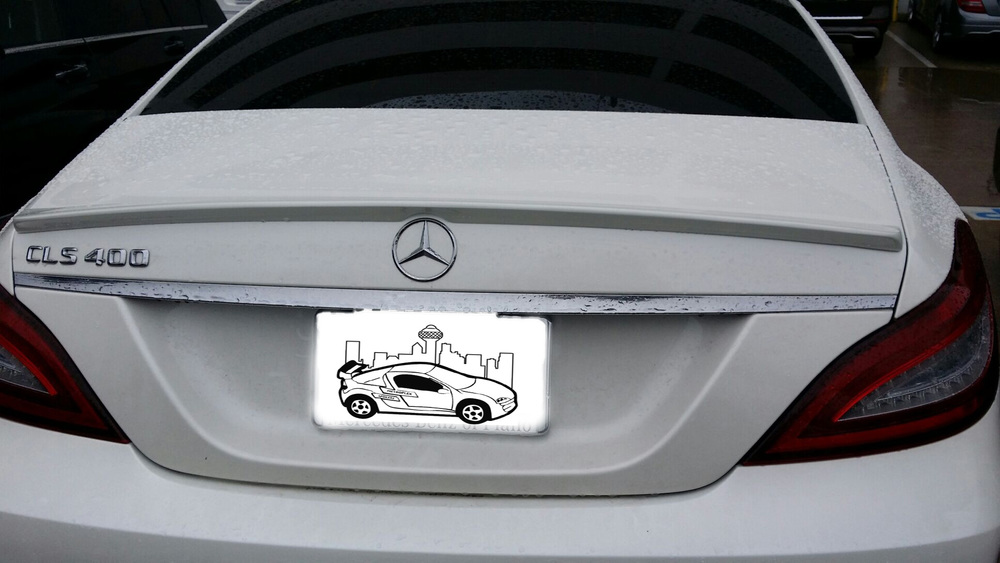 2012+ Mercedes CLS Factory Style Flush Mount Spoiler