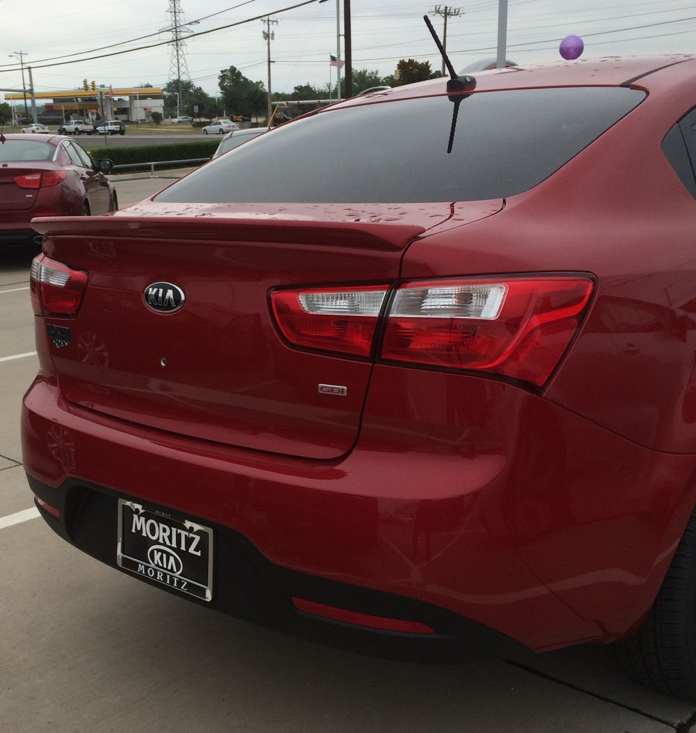 2012+ Kia Rio Custom Flush Mount Spoiler