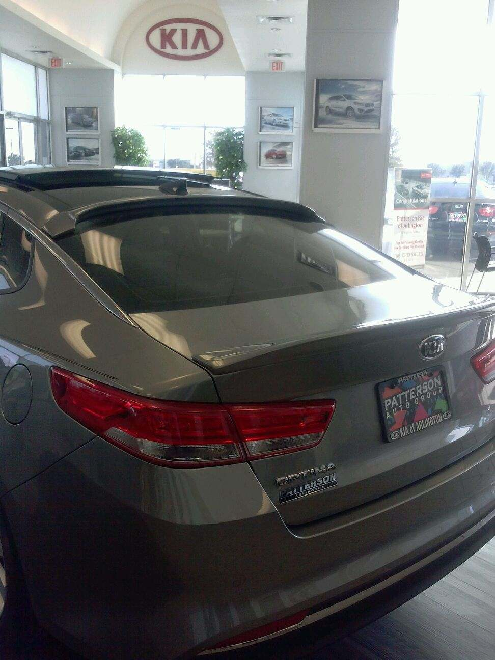 2016+ Kia Optima Flush & Roof Mount Spoiler