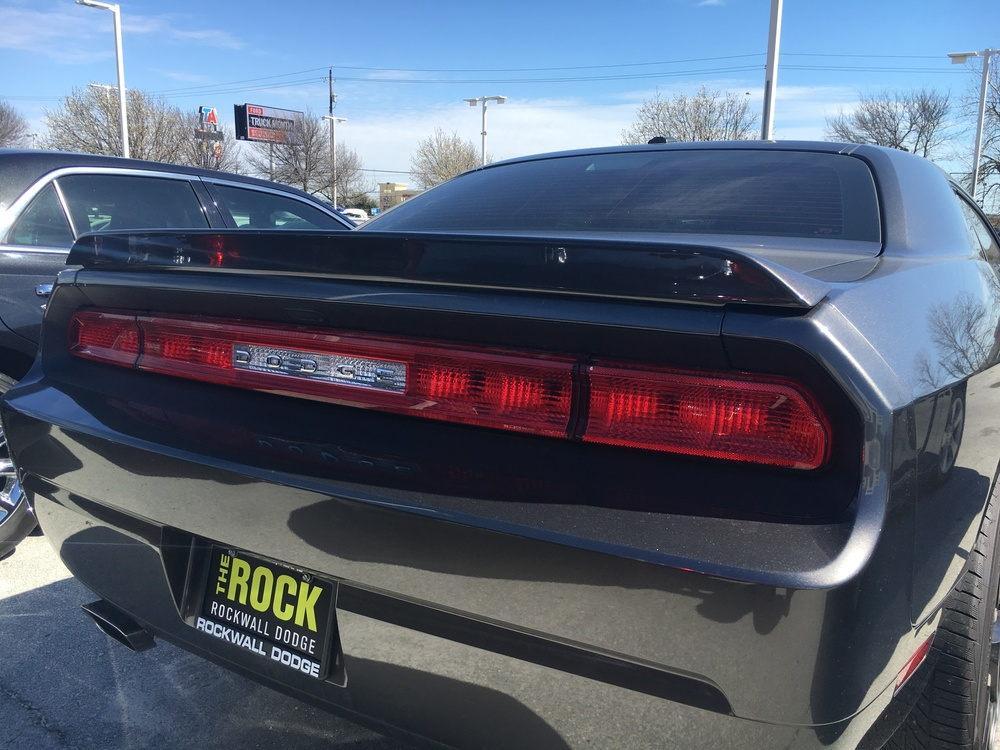 2008-2014 Dodge Challenger SXT Plus Flush Mount Spoiler (No Camera)