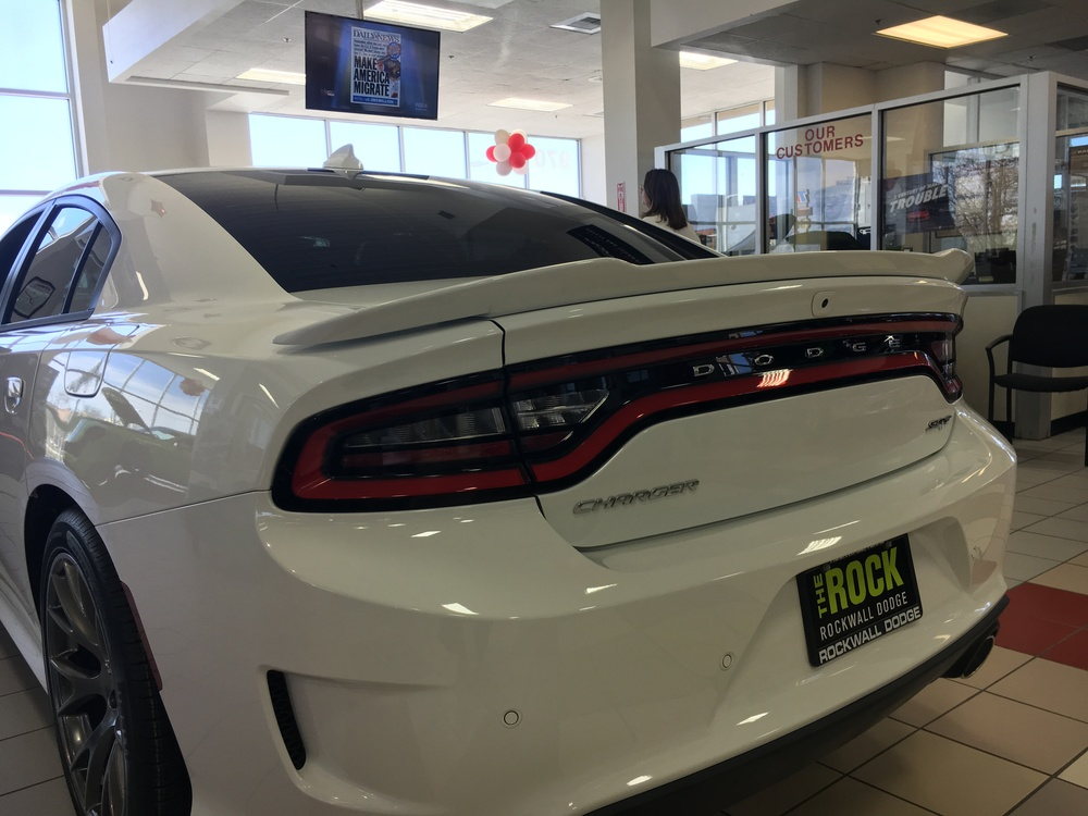 2015+ Dodge Charger Hellcat Style Flush Mount Spoiler