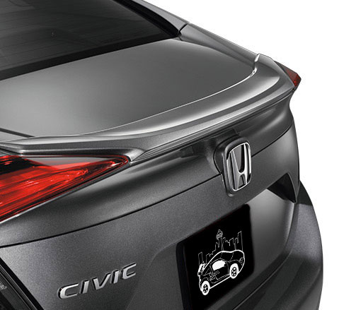 2016+ Honda Civic Sedan Factory Style Flush Mount Spoiler