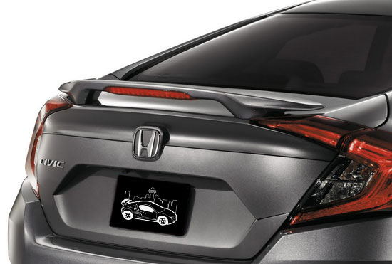 2016+ Honda Civic Sedan Factory Style 2-Post Spoiler