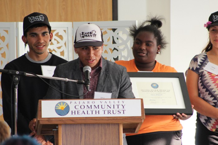 Joining FoodWhat Director, Doron Comerchero, in receiving the Phil Rather Award at the Pajaro Valley Health Trust this past week, FoodWhat Alum, Uriel Reyes, shared a very personal and articulate assessment of his own path to health and advocacy while offering some deeeeeep nuggets about the role of food in our society today.   Watch Uriel's inspiring speech by clicking  HERE  It's worth your time...