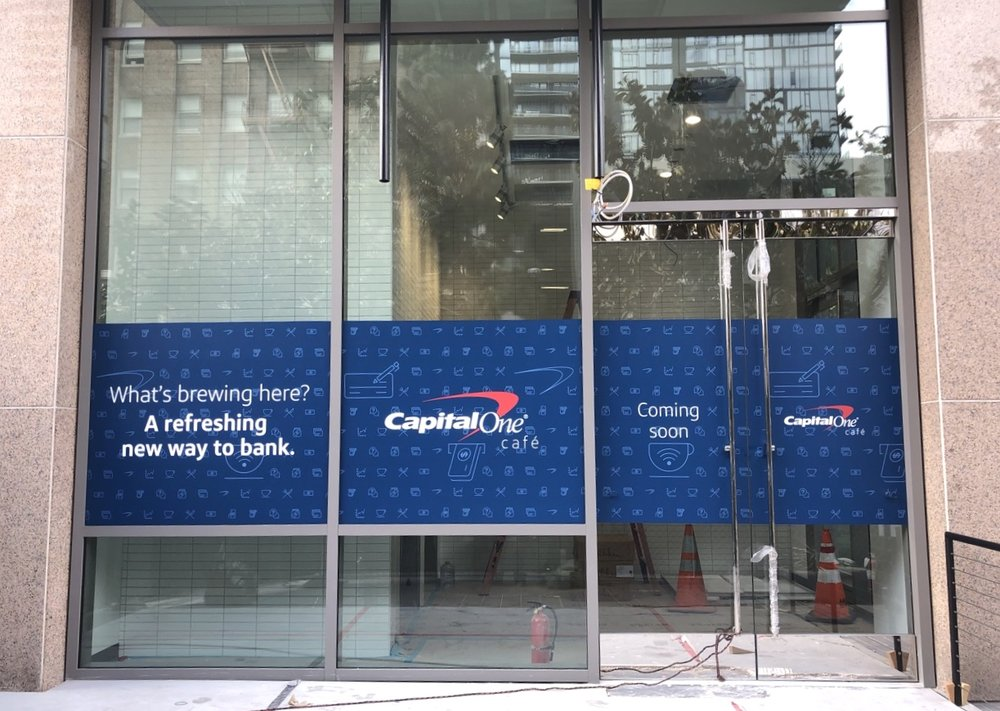 CAPItal one cafe - material used - Arlon 4600lx with matte lam