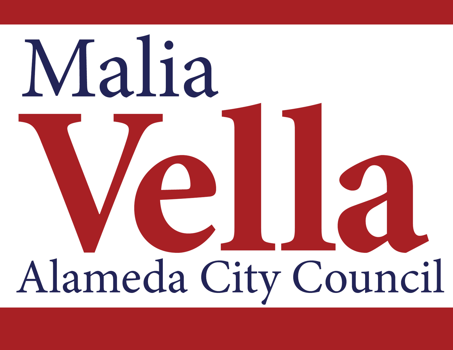 Malia Vella for Alameda City Council