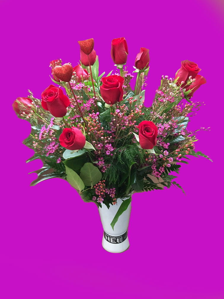 Digital Expressions Dozen Roses With Bluetooth Vase Jerrys For