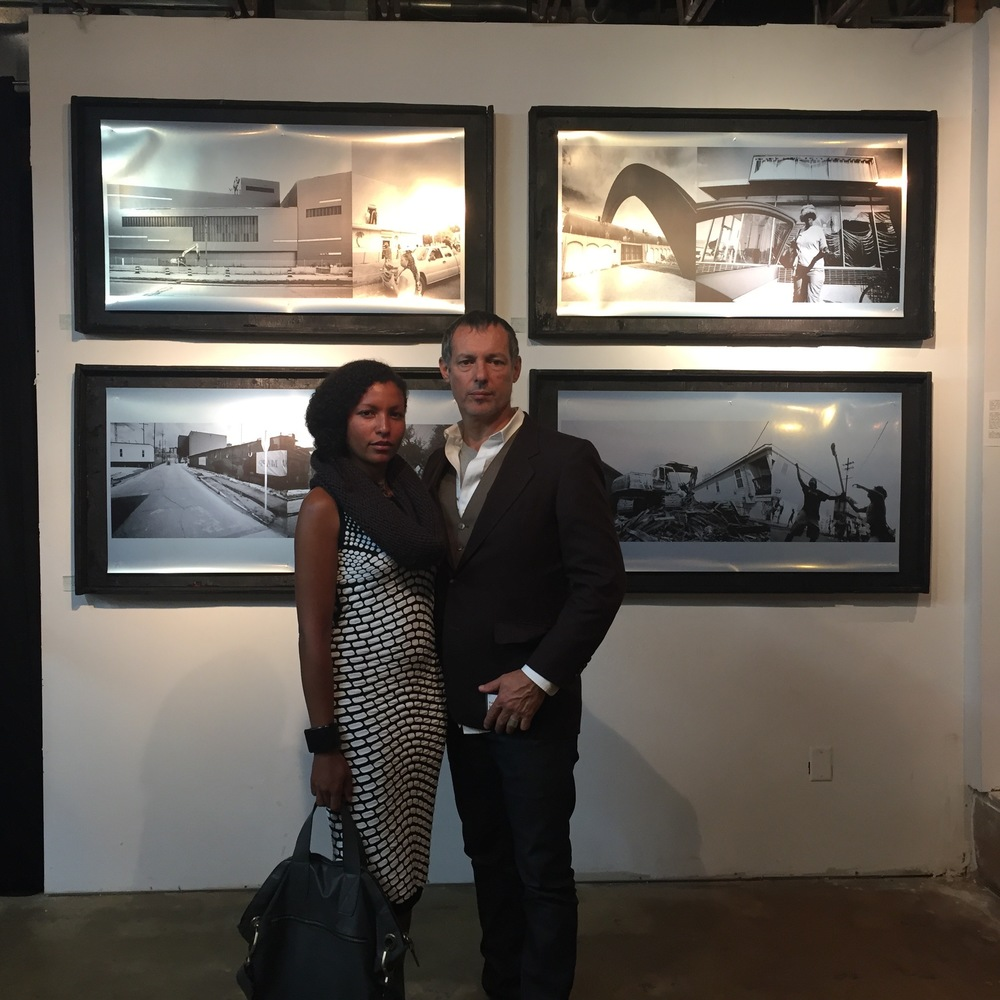 The artist Cecelia and Jose Fernandes at  New Orleans Art Center's Politico Pop Up, 2015.