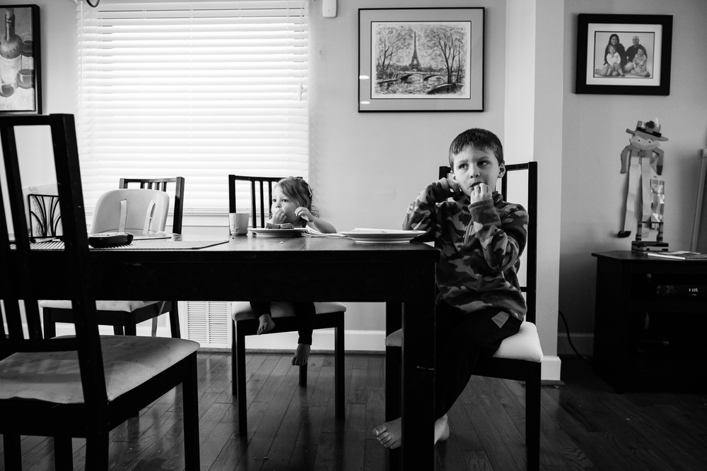 children having lunch, family documentary and lifestyle photography