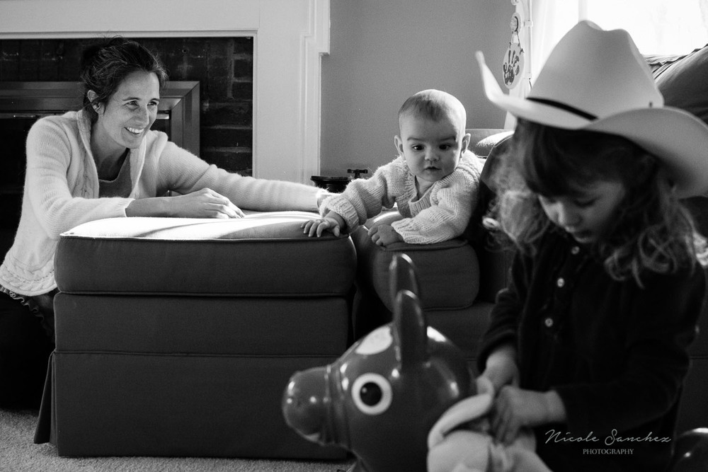 Northern Virginia Family Documentary Photography, in home, motherhood