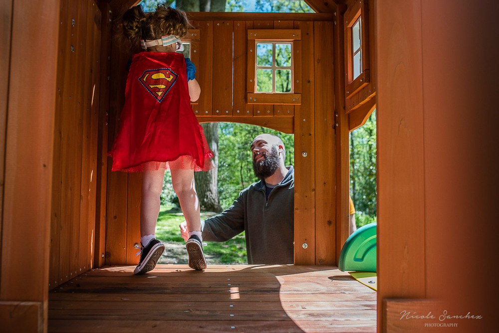 Outdoor superhero birthday celebration | Northern Virginia Documentary Family Photography