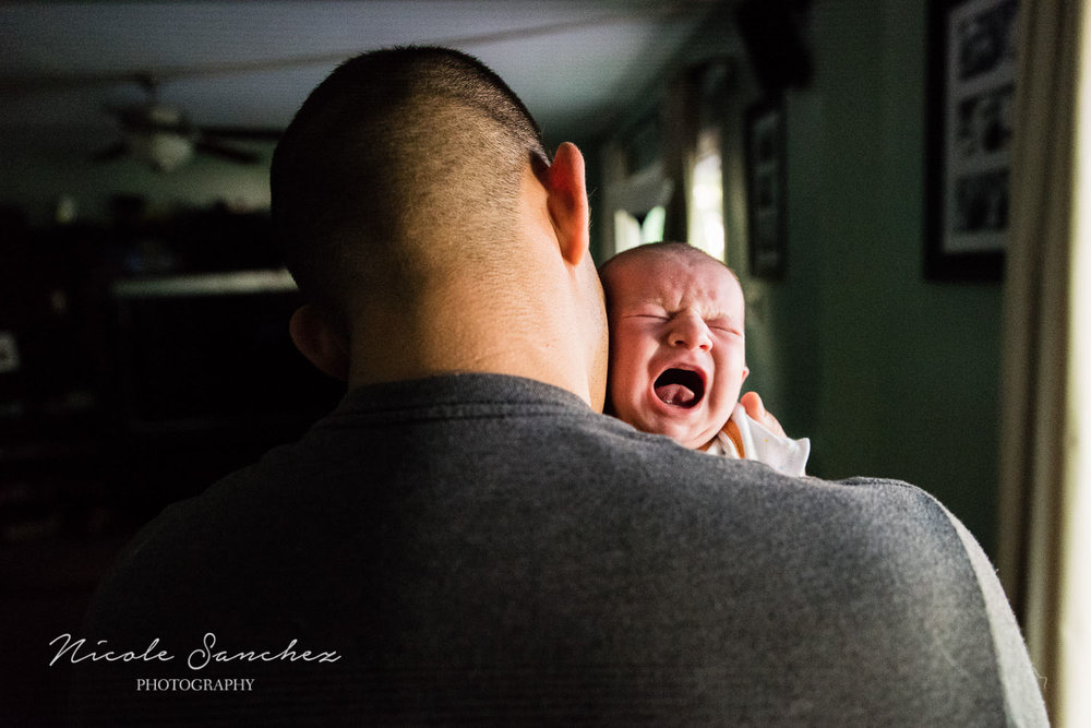 Crying, unhappy baby | Northern Virginia Family Photographer